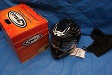 G Max WPS GM11S Dual Sprt Snow Edge Helmet TC5 Black Silver XXL