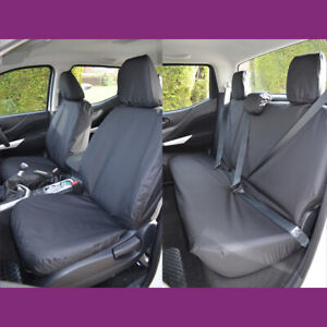 Mercedes-Benz X-Class 2017+ Black Tailored Waterproof Front and Rear Seat Covers