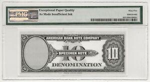 SPECIMEN TEST NOTE 1929 $10 DENOM. AMERICAN BANK NOTE Co PMG #65EPQ GEM RARE-FRN