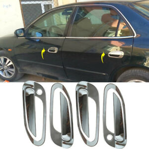 Fit For Honda 6th Accord 1998-02 Chrome Stainless Outside Door Handle Cover Trim