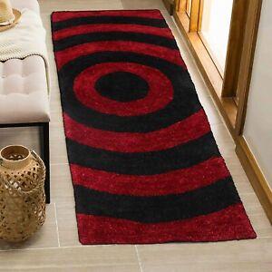 Polyester Soft Carpet(50x150 cm,Red & Black)Enhances The Beauty Of Home Interior