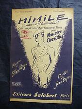 Partition Mimile un gars de Ménilmontant Maurice Chevalier 1939 Music Sheet