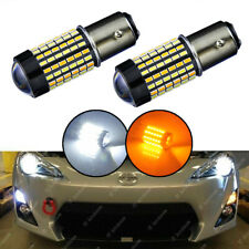 High Power 1157 Switchback White/Amber 120-SMD LED Bulbs DRL/ Turn Signal Lights