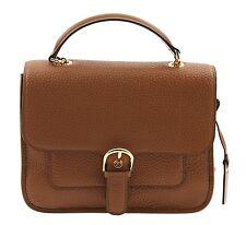 NEW Michael Kors Leather Cooper Large Satchel Messenger Crossbody Bag -Luggage