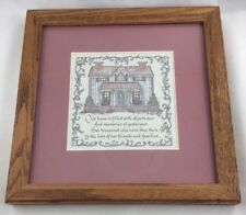 Vintage Creative Calligraphy Print Framed Matted by Artist Lynn Norton Parker