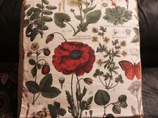 """POTTERY BARN Poppy Botanical Print Pillow Cover New with Tag 24"""" Square"""