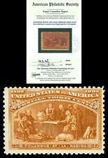 Scott 239 1893 30c Columbian Issue Mint Fine+ OG NH Cat $675 w/ APS CERTIFICATE!