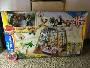 WWE GORILLA IN THE CELL MATCH ACTION FIGURE PLAYSET Slam City Mattel Orton