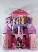 My Little Pony Pink Purple Pop Up Castle With 13 Ponies