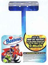 Hostess Justice League of America Promo Shelf Talker 2010 Unused Not For Sale DC