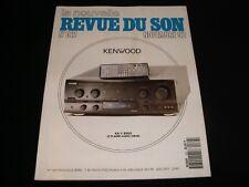 LA NOUVELLE REVUE DU SON<>NOVEMBER 1992<>FRENCH AUDIO MAG.°#162°MAGNEPAN MG20