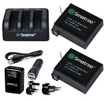 Smatree® Replacement battery 2-Pack and 3-Channel charger for Gopro Hero 4