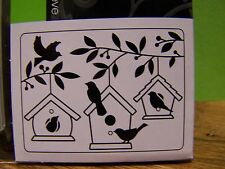 EMBOSSING FOLDER  CHRISTMAS WINTER HOLLY BIRDS BIRD HOUSES