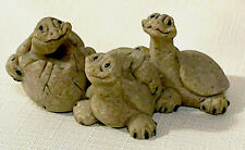 """New listing Quarry Critters by Second Nature Design """"Tres Amigos"""" Turtle Friends Figurine"""