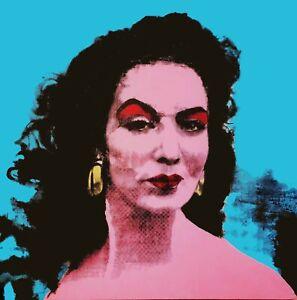 Big Mexican Maria Felix silkscreen movie star POP Art Andy Warhol Tribute 36x36