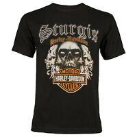 Sturgis Harley-Davidson Men's Sturgis Skull 2 Black Short Sleeve T-Shirt