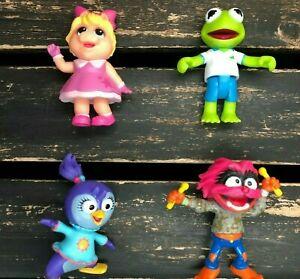 Disney Junior Muppet Babies Toy Mini Figures Collectible Kermit Miss Piggy Lot 4