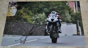 """Michael Dunlop Signed 12"""" x 8"""" Colour Photo Isle Of Man TT Comes With COA #3"""