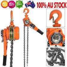 750 Lever Block Chain 0.75t//1.5t//3t/Chain Hoist Ratchet Hoist Ratchet Lever Pulley Lifting 3meters Blue Color