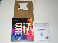 Empty original box of Intel Core i7 7700k for collection or resale purpose