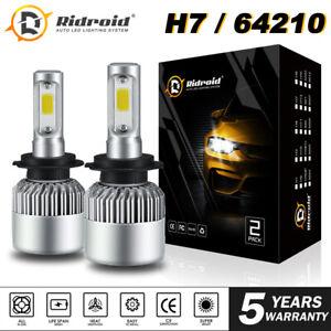 2x H7 LED Headlight Bulb Conversion Kit High Low Beam 6000K 1900W 285000LM US