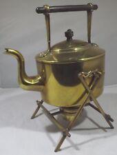 Antique Victorian William Soutter & Son Brass Spirit Kettle on Stand