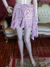 Roberto Cavalli Fleur-de-lis Ruffle Detail Mini A-Line Skirt Sz 8/10  44 Euro