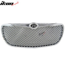 Fits 04-06 Chrysler Sebring Mesh Style Front Grill Grille Chrome - ABS