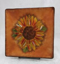 Tuscan Sunflower Salad Plate by Clay Art