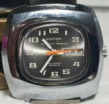 orologio vintage EGOTRIX dial TV ETA 2789 day date  uomo funzionante SWISS MADE