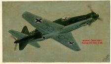 Bild Malerei Acryl Flugzeug 2wk Dornier DO 335 Luftwaffe ww2 oil paintig 1951