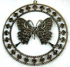 50Pcs. WHOLESALE Tibetan Antique Bronze BUTTERFLY Earring Drops Charms Q0330