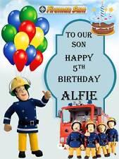 Personalised Fireman Sam Birthday Greeting Card with Envelope 312