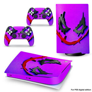 Skin Decal Sticker for PS5 Console Controllers Digital Version Playstation 5