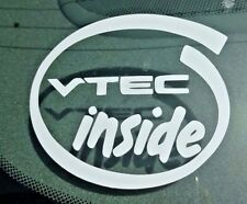 VTEC Inside Vinyl Window Decal Bumper Sticker Laptop Honda Acura Civic CRX VTECH