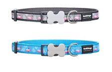 Red Dingo FLAMINGO Collar / Lead | Dog / Puppy | Size XS - LG | GREY / TURQUOISE