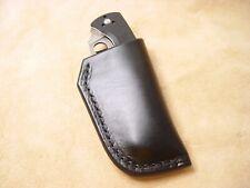 """Vaina de cuero negro con pluma personalizado para el tamaño 7/""""//Premium S9"""