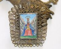 MEDAL OF THE VIRGIN OF MONTSERRAT. ENAMEL AND CRYSTAL ROCK. SPAIN. 18-19th CENT.