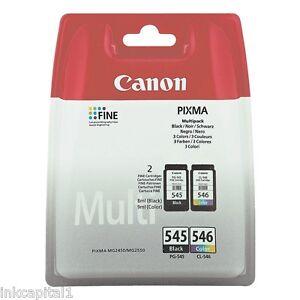 Canon PG-545 & CL-546 Original OEM PIXMA Inkjet Cartridges