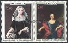 Monaco 1973 Mi 1102-03 ** Princely Palace Painting Gemälde Peinture Art