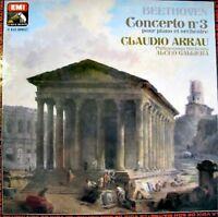 ALCEO GALLIERA/CLAUDIO ARRAU concerto 3 BEETHOVEN LP NM