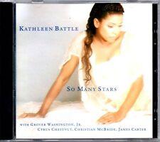 "KATHLEEN BATTLE ""SO MANY STARS"" CD 1995 sony classical"