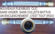 20 Nouveaux Flexible CLIC,15 cm, Ø 1/2 Mâle pour tuyau Ø 14 mm,,Inox RSO