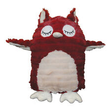 Gor Patchwork Pet Pastel Hoot the Owl Dog Toy | Tear-Resistant Grunter Crunchy