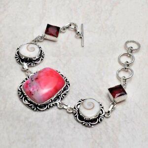 Dendrite Opal Shiva Eye Ethnic Handmade Bracelet Jewelry 24 Gms AB 21632