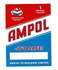 "AMPOL MOTOR OIL 1 IMPERIAL GALLON CAN Sticker / Decal 8"" X 6"" (20CM X 15CM)"