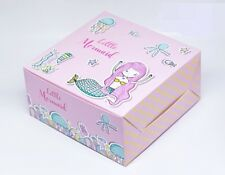 10 Pink Litter Mermaid Bakery Box Cake Cute Birthday Cupcake Muffin Dessert Gift