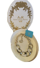 NIB Anna Dello Russo H&M Gold & Crystal Necklace