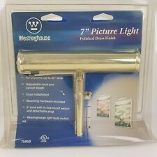 Westinghouse Picture Light Lighting 7 inch Polished Brass Gold Slimline Gallery