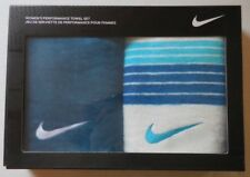 Nike Women's Performance Towel Color Teal/Blue/White Set of 2 New in Box